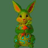 Jim Shore Mini Bunny Figurine 3.75 Inch Multi