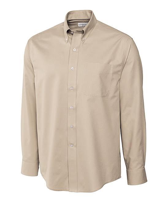Cutter Buck amp; Fine Twill Button Men's Button Epic Down Care Shirts Easy up Birch Men 5qqrdvw7