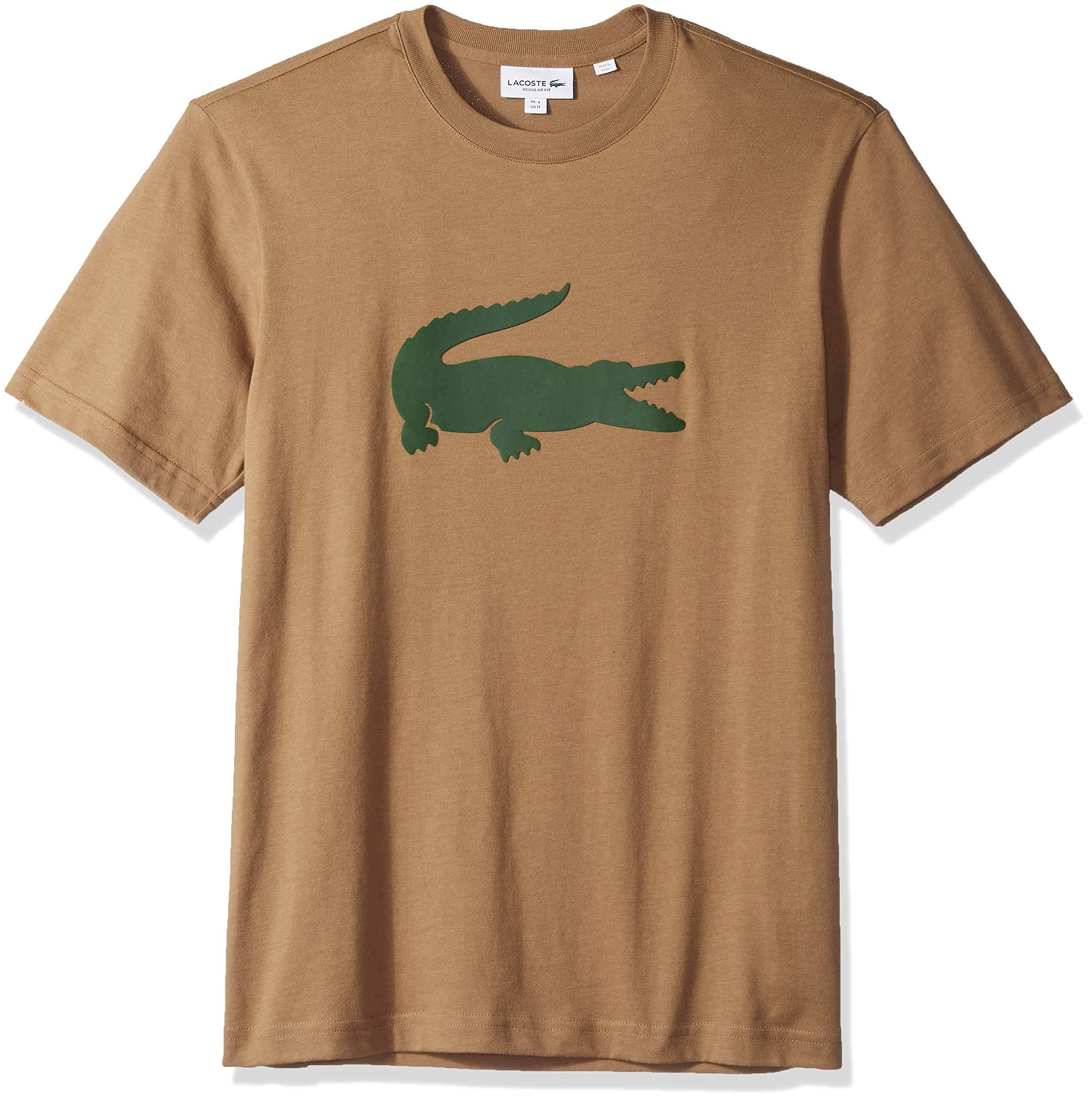 Algodón Extragrande Lacoste Redondo Jersey Para Marrón Hombre Verde Cuello De Camiseta Cocodrilo 7fx6nBqU7w