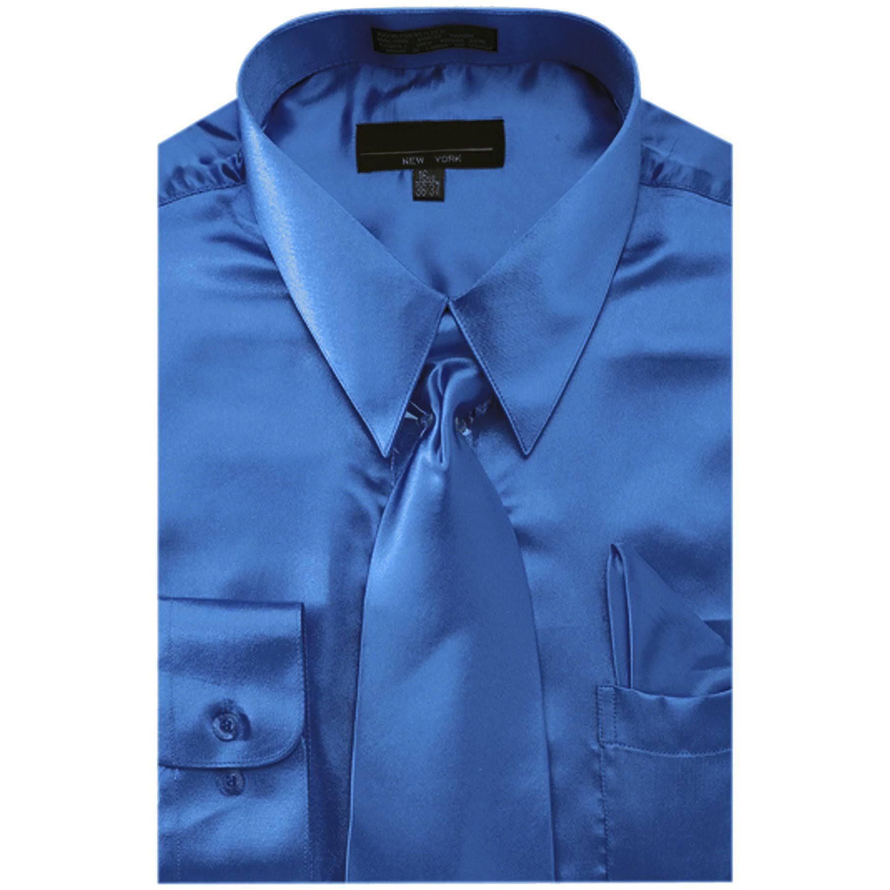 Vestir Camisa Hombres 155 Y 3435 Liso ds3012np2 roy Satén De Ntp Pañuelo Corbata Color Sunrise Royal Para Outlet En qtf5x4Sz