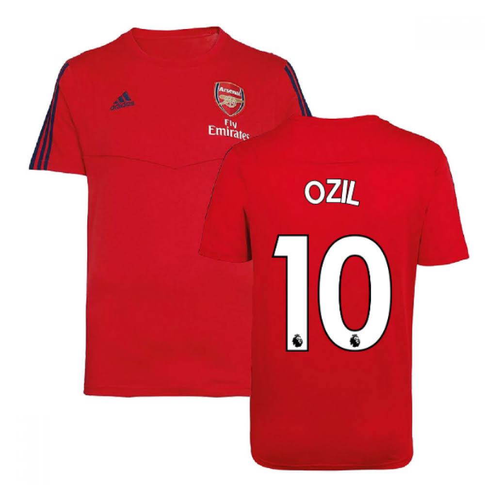 2019-2020 Arsenal Adidas Training Tee (Red) (Ozil 10)