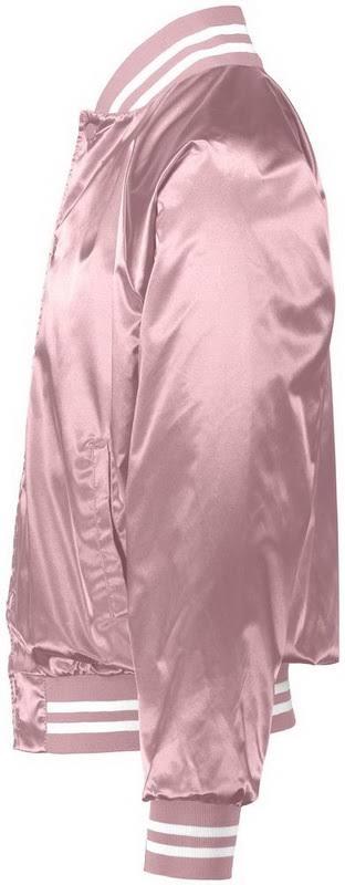 Regular Ribbon Baseball Trim Light Pink Augusta Jacket 3610 White Satin 17nIzIaO