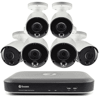 Swann 8-Channel 4K DVR Surveillance System with 2TB Hard Drive, 6-Camera 4K Indoor/Outdoor Cameras