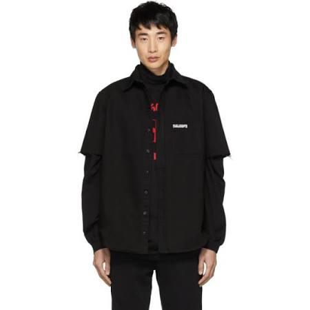 Save Black Vetements Us Denim Camisa God qIfpY0w