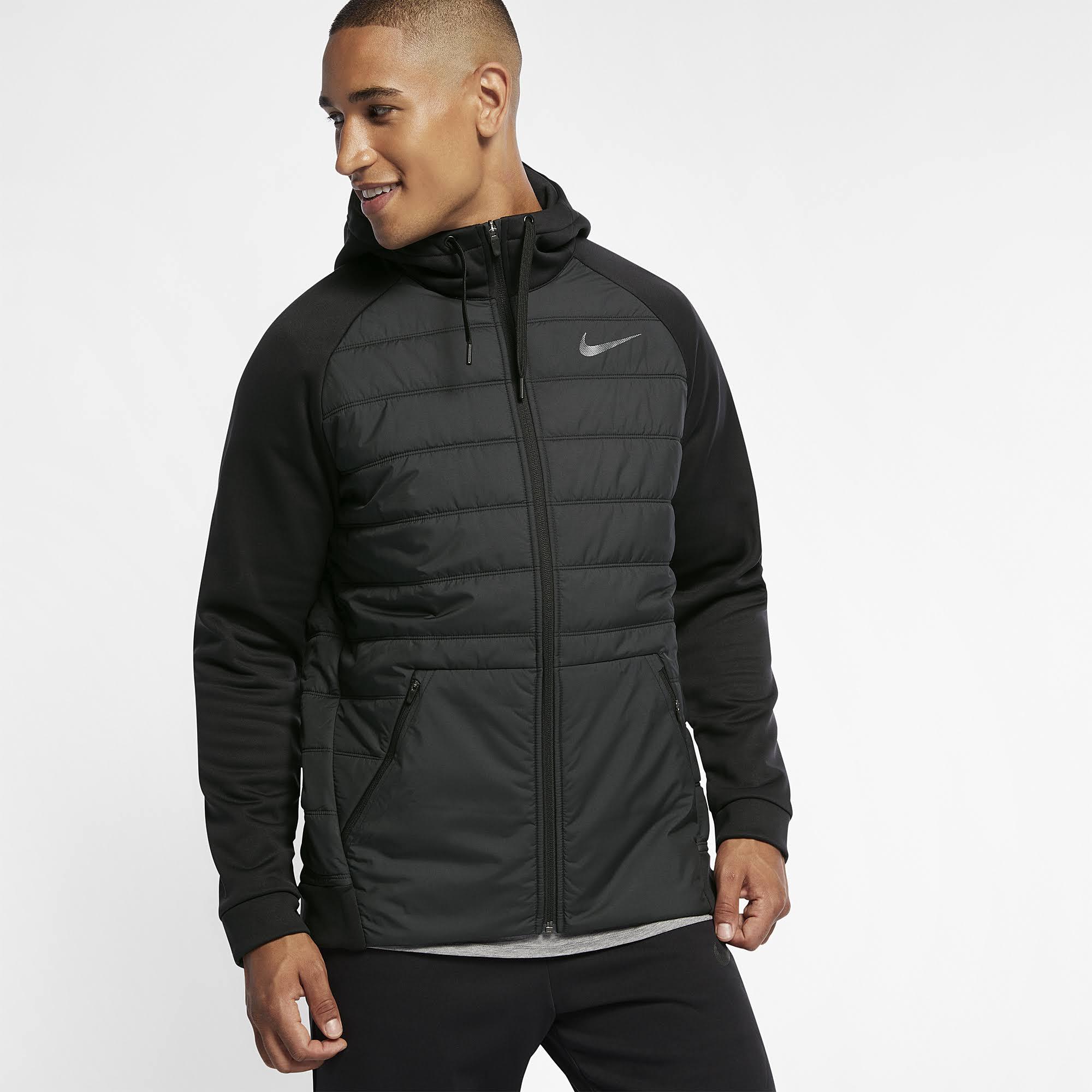 Herren Full Therma Nike zip trainingsjacke Schwarz Small Größe 1ZqxCw