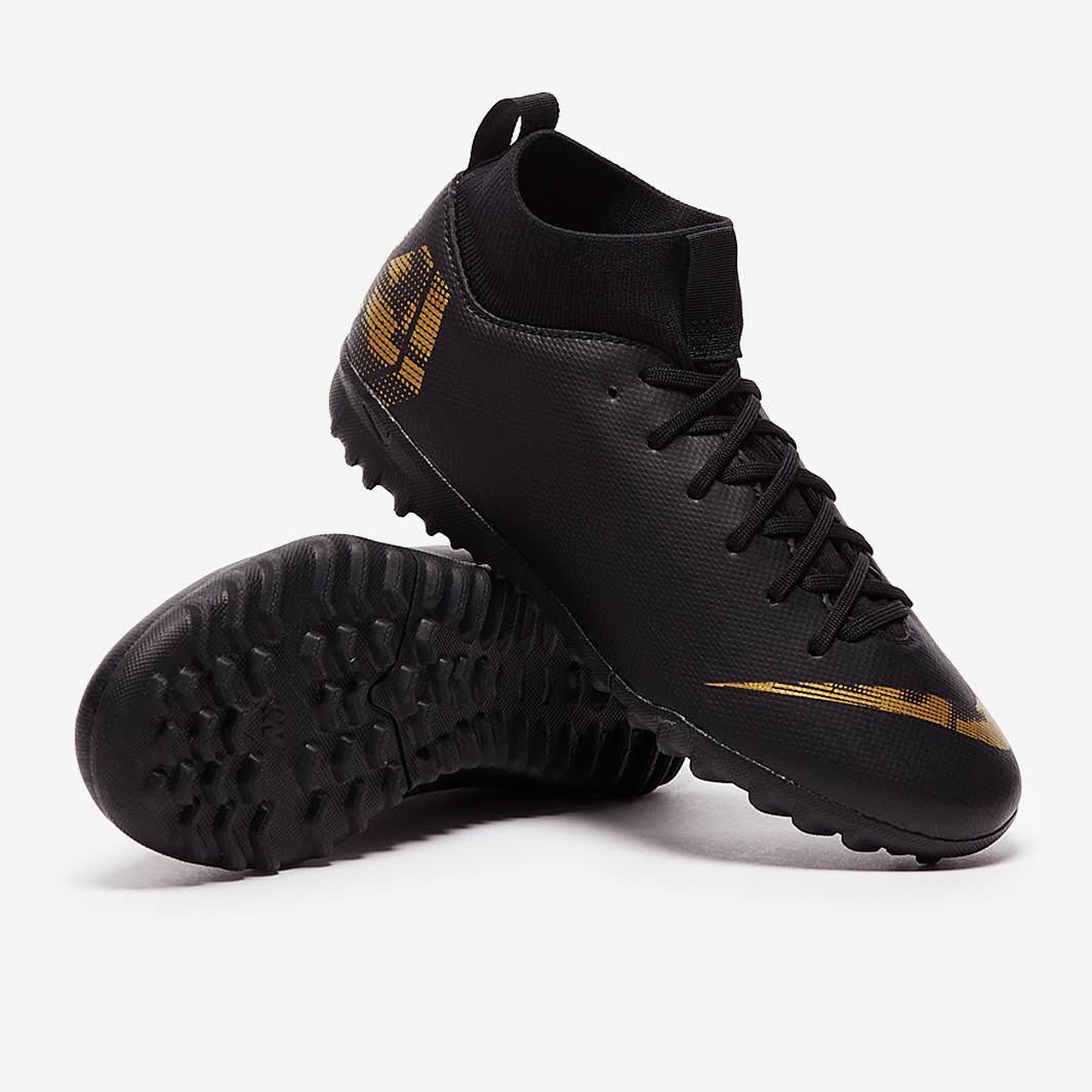 Nike Kids Mercurial Superfly VI Academy TF Black Metallic Gold