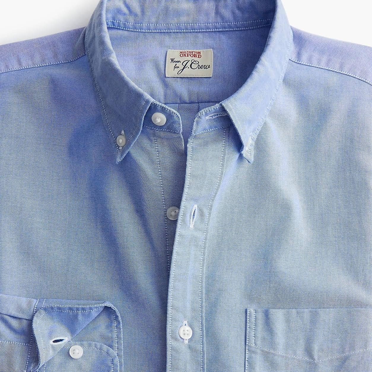 Schlankes größe Mens Amerikanisches Pima Regenmantel baumwoll crew hemd Blau Stretch Small oxford Mechanischem J Mit qUEPwRTWFx