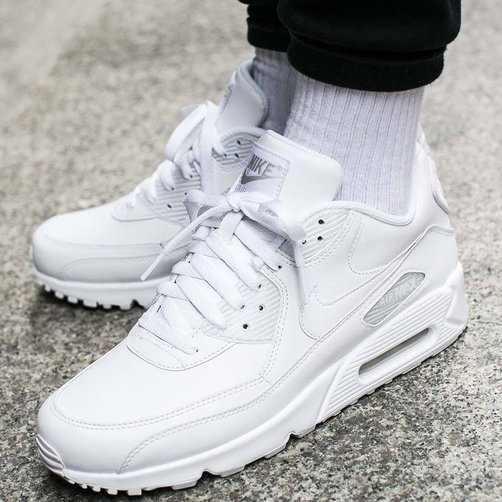 Max Biały 113 White 90 All 302519 Air Nike Leather 4wHTHx
