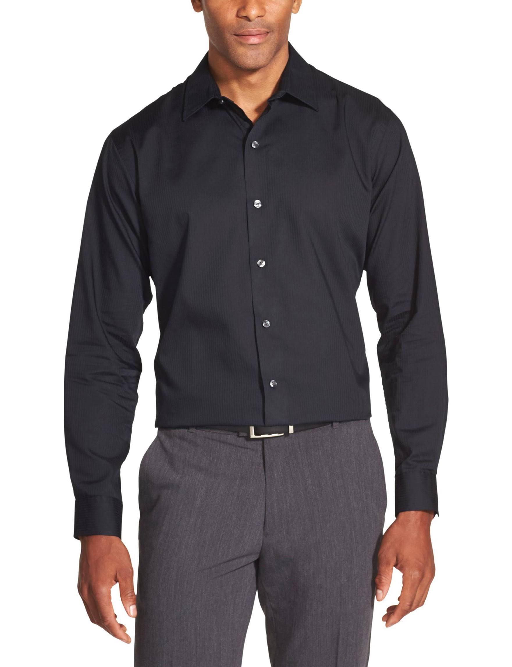 Botones Van De Larga M Heusen A Con Para Rayas Camisa Negro Hombres Rich Manga 1WwfTUF