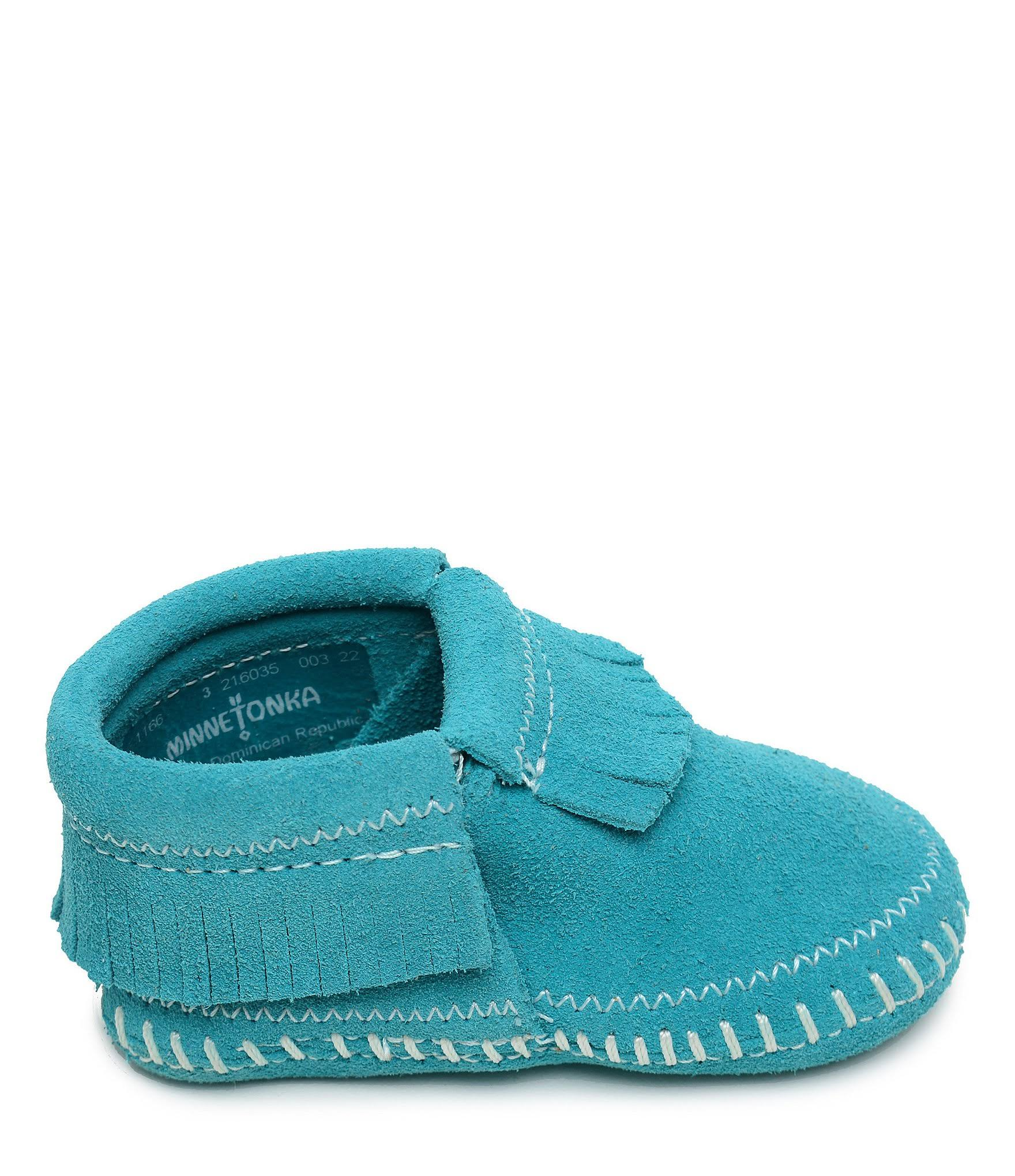 Riley Minnetonka Niñas Bota Bebés Azul 3 Mediana ZwpUf