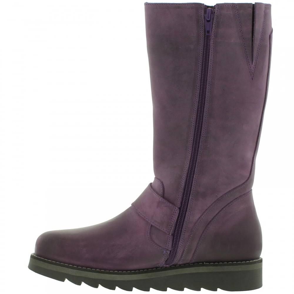 Oak & Hyde Womens Coast Mid Leather Zip Up Biker Boots - EU 41  Bv7EdP