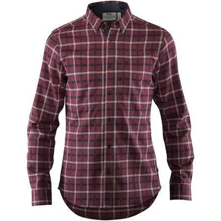 Oscuro Fjällslim Para Hombre Ls Shirt Xl Fjällräven Granate dIwa8H8q