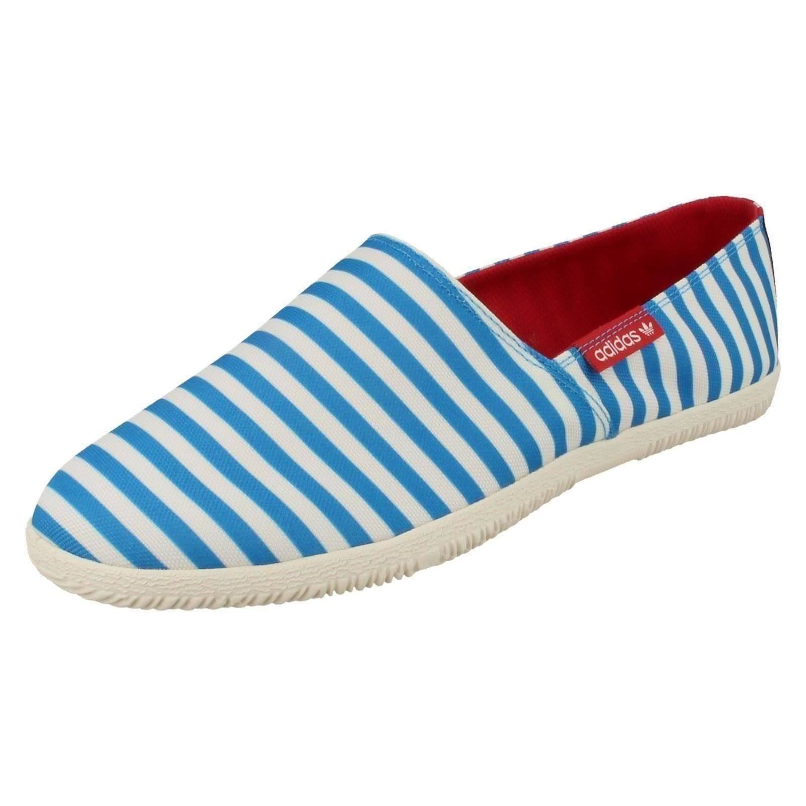 (UK 9.5, Solblu/Whtvap/Redbea (Multi)) Mens Adidas Canvas Pumps Adidrill