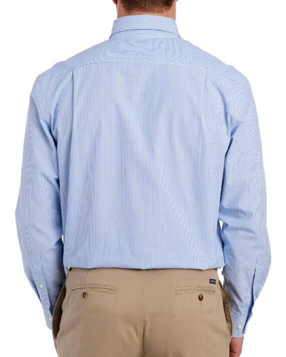 Mit Stretch Herren aufdruck Langarmshirt Und Streifenmuster Izod Regular A8wTq4w