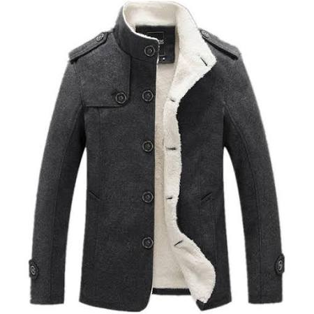 Sobretudo Lana Costbuys De Nuevos Gris Polar Chaleco Forro Invierno M Chaqueta Hombres Masculino Abrigo Abrigos Moda rHOqHI1