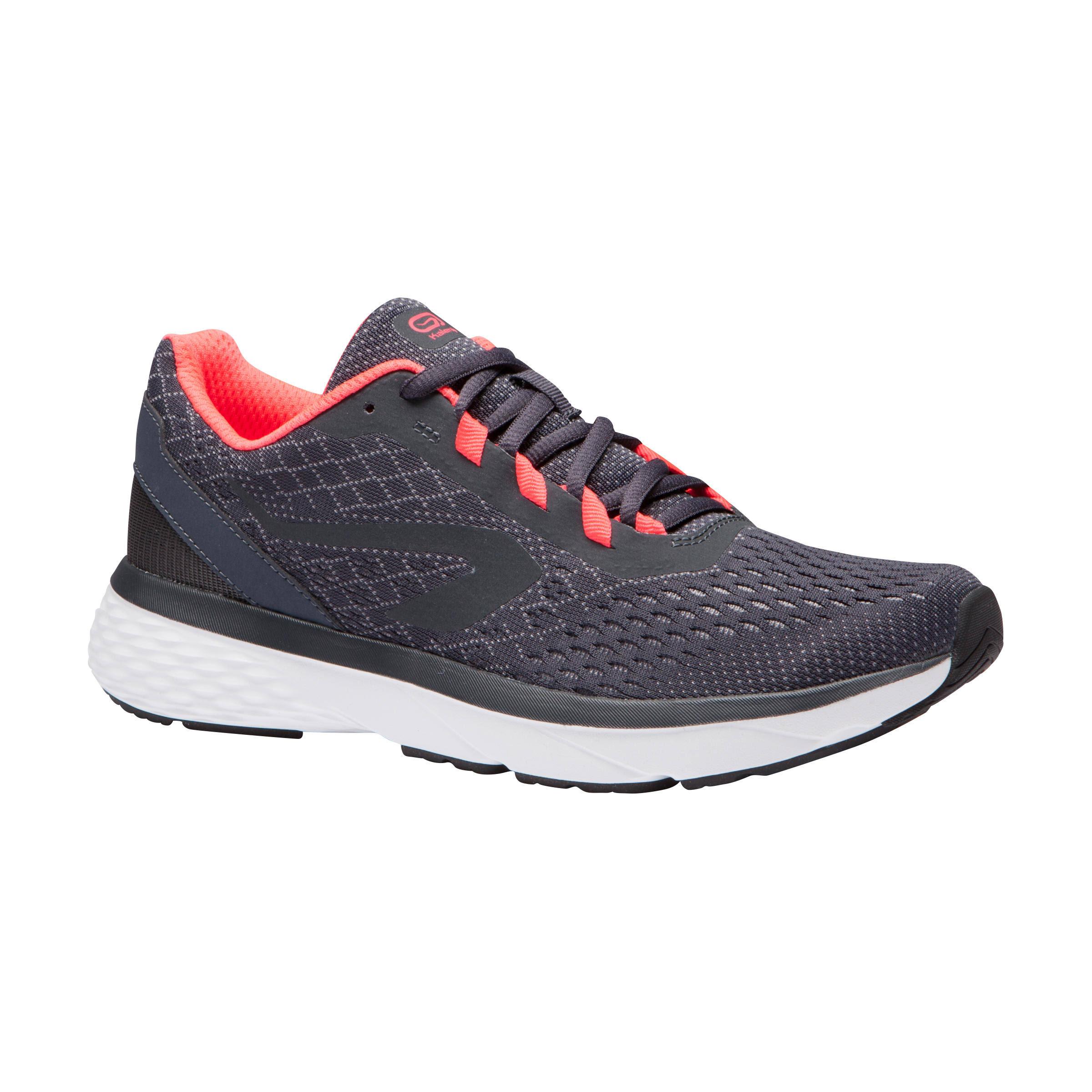Kalenji Run Support Women's Running Shoes Grey Coral