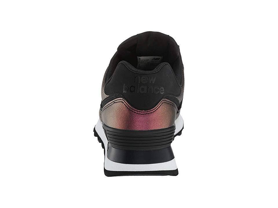 Damen Pack Sheen Wl574ksb Schwarz Classic Dark Sneakers New Balance Metallic 5ZRaOqW866