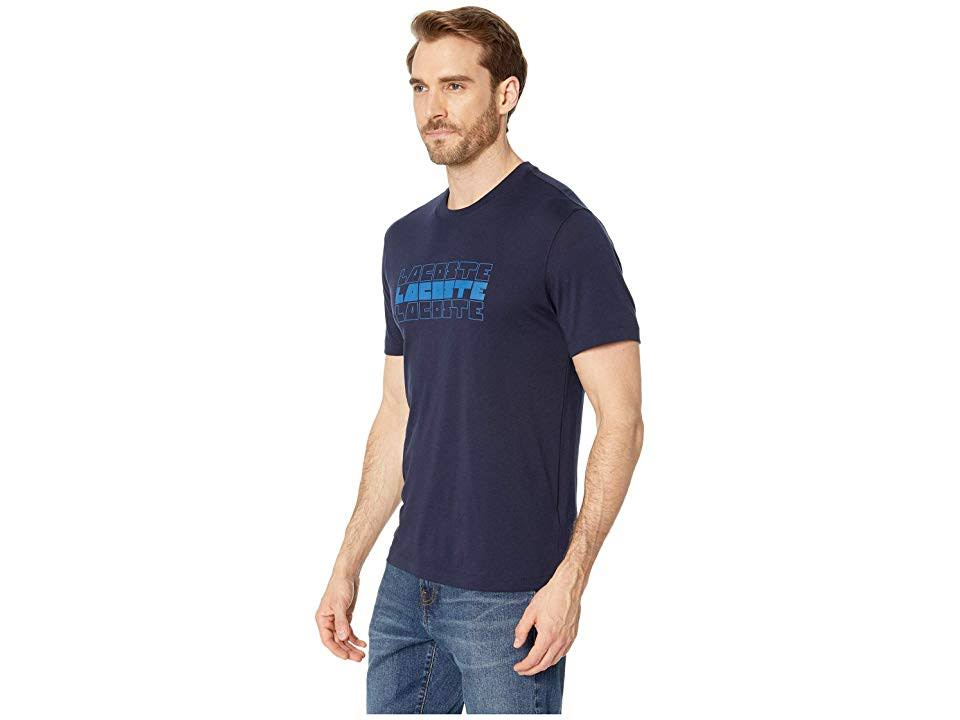 m shirt Mit Größe Navy 4 Herren Blue Logo T Lacoste Triple qH1pv