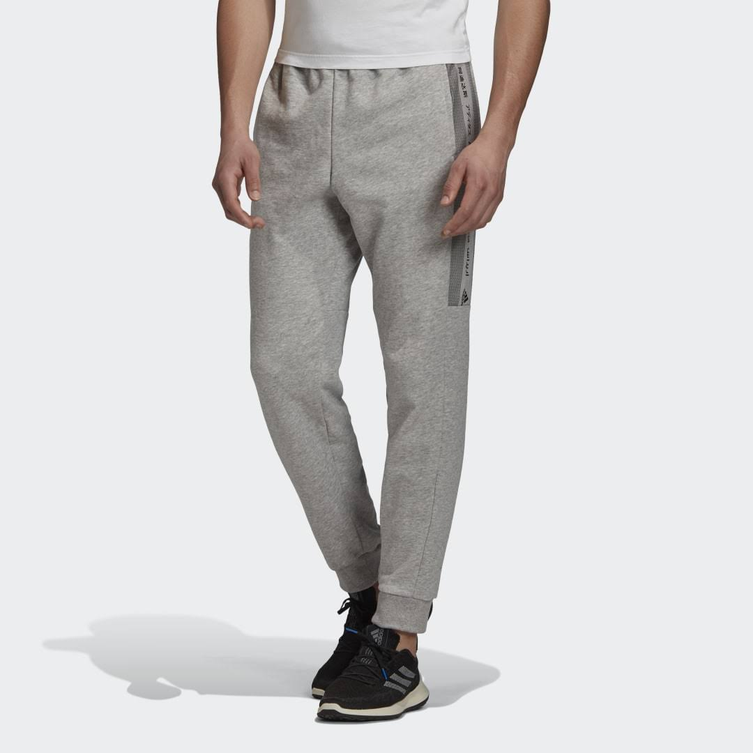 Adidas Must Haves Graphic Joggers - Grey - Men