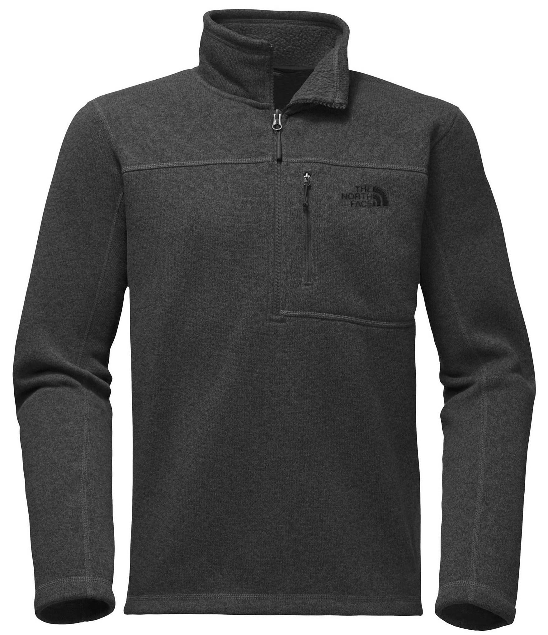 Heather Zip Face North Hombre Fleece Gris Oscuro Lyons Gordon 14 The PUvax