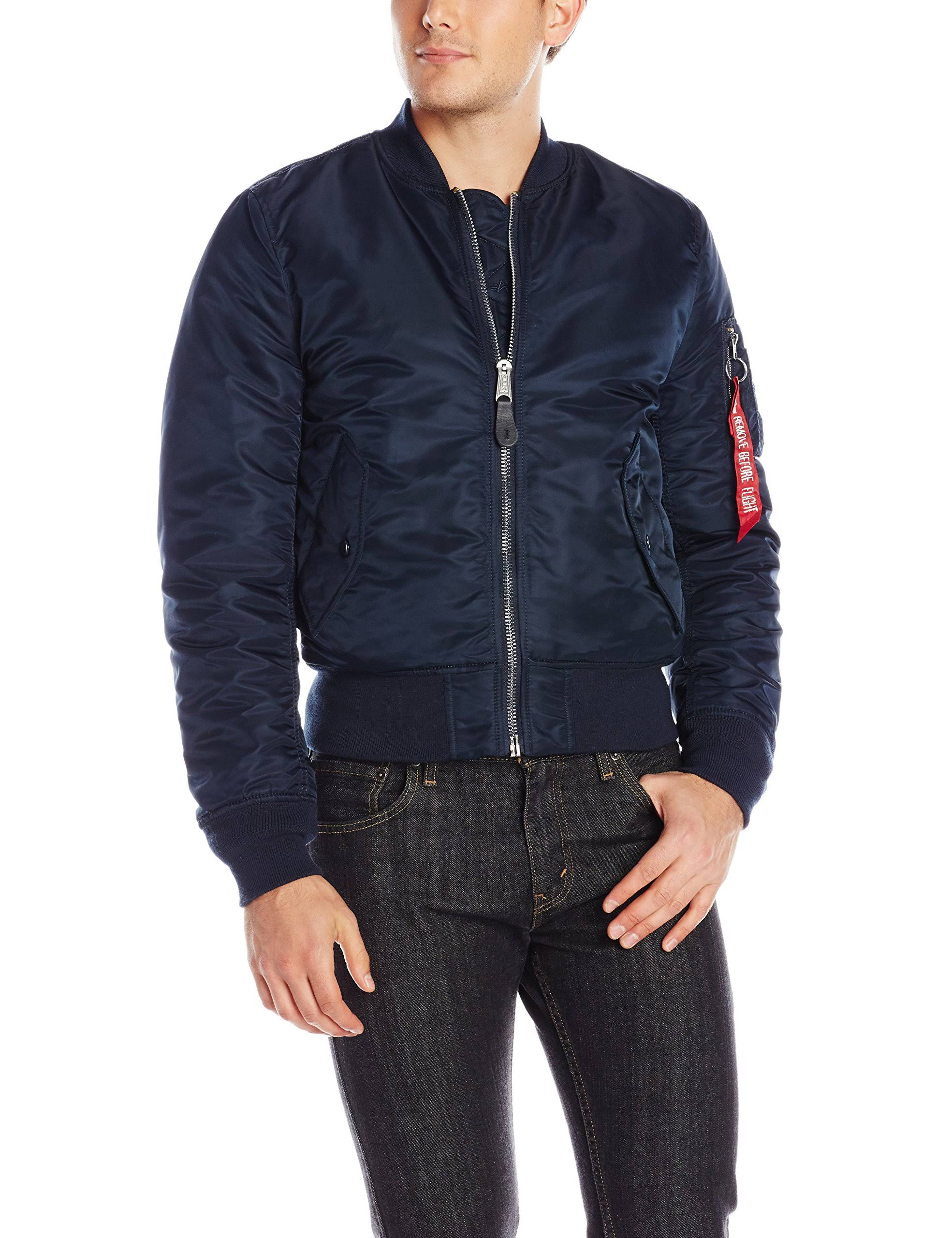 Jacket Industries Flight Azul Fit Ma Bomber Replica Alpha 1 Slim Zfxd0wg0q6