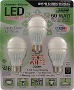 Led Light Bulb A-19 Omni 3 Pack - Sale Price Limit 4