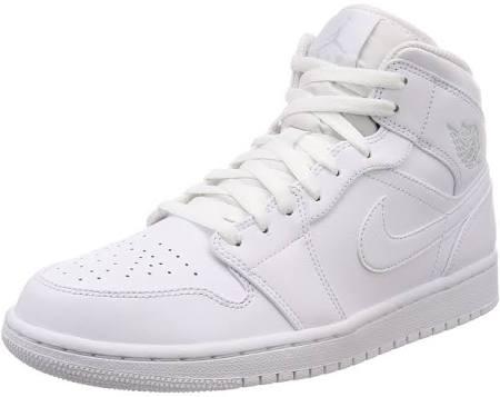 1 Schuhe Elfenbein Weiss Weisspure Mid Nike Jordan Platinum Air qa1xtZ