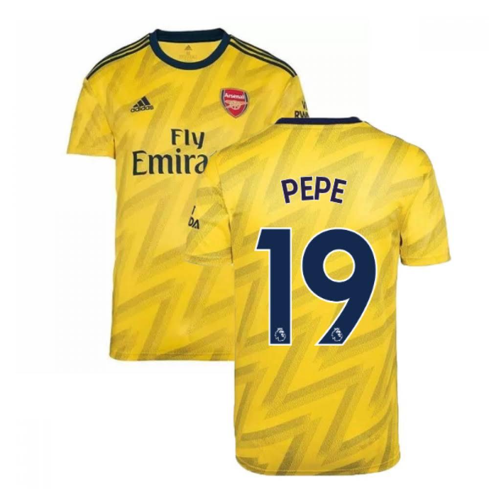 2019-2020 Arsenal Adidas Away Football Shirt (Pepe 19)