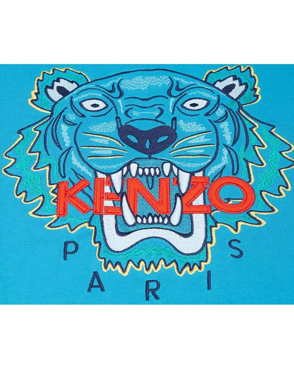 Marino Azul Tiger Sudor Niños Para Edad Junior Kenzo Icónico 3 Azul De Bordado 7UHqxPUg