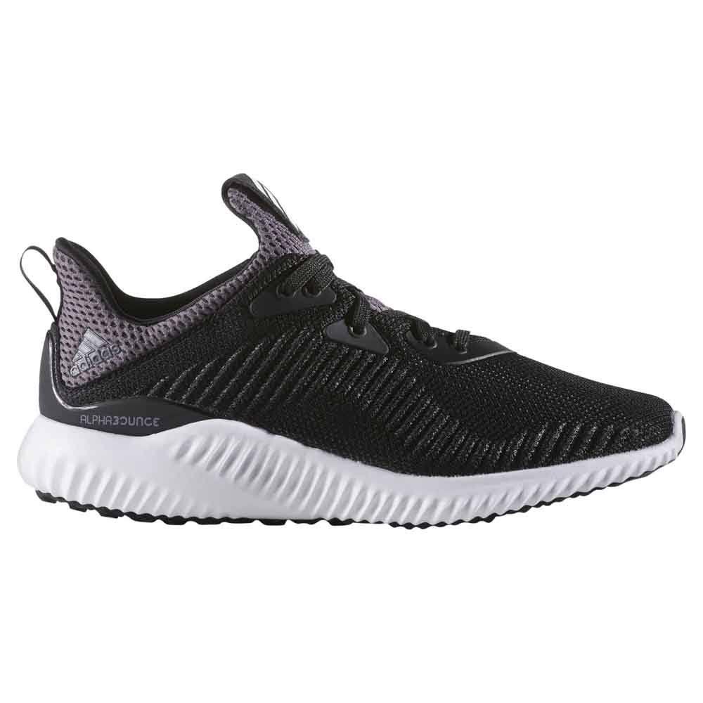 Adidas Alphabounce Junior Shoes, 4 / Black