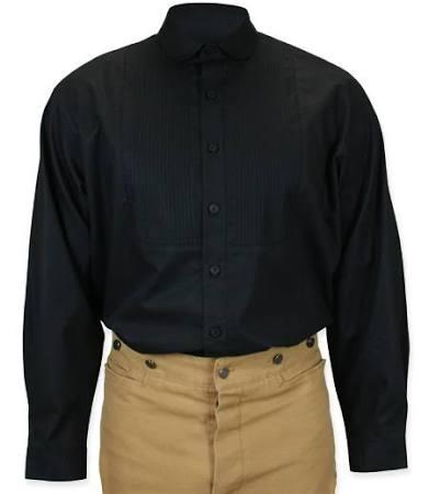 Sinclair herren Clubkleid Gothic Steampunk Baumwolle Aus Hemd Edwardian Larp Clubkragen größe Mit 2x Schwarzes Cosplay banker Pirate SrqSYw