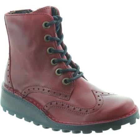 Marl 4 Boots Red Leather London Ankle Womens Fly qzx057wp5