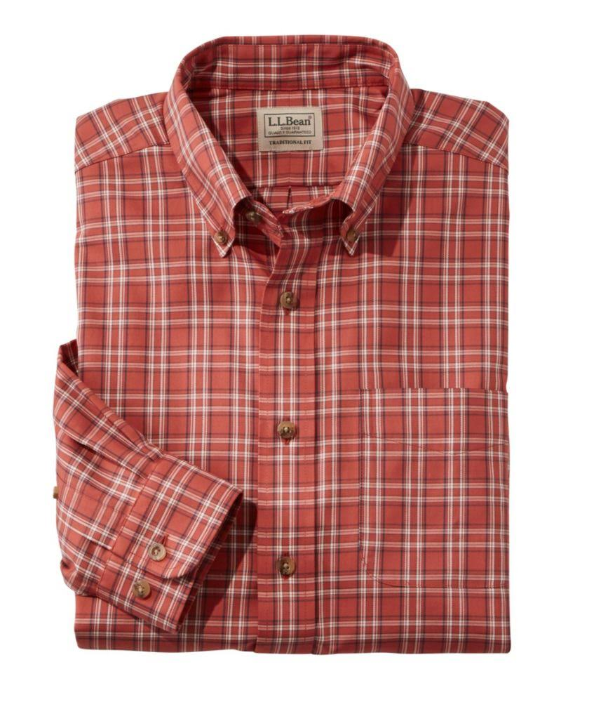 bean Herren Twill Orange Für L Traditional sporthemd Medium Fit Knitterfreies Plaid l q7tdPW