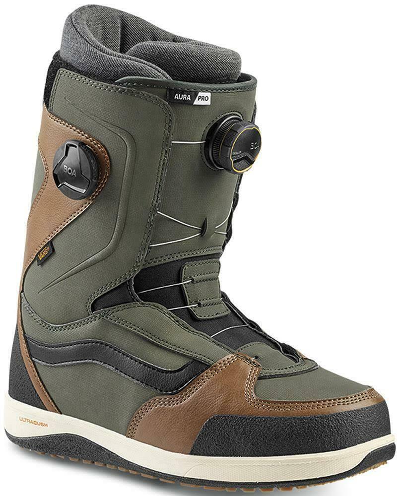Vans Aura Pro Snowboard Boots 2020 (Green/Brown, 10 UK)