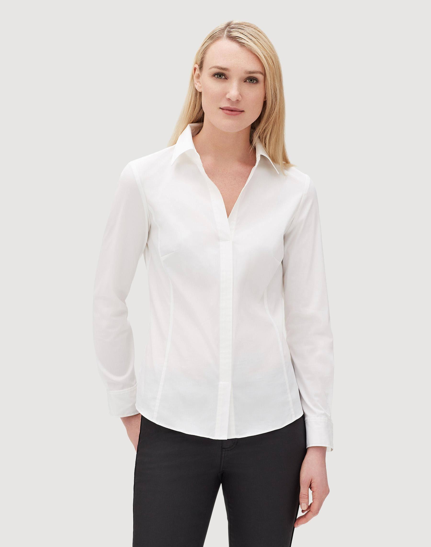 Cremallera Blusa Blanca Size 148 Plus Lateral Con Katie Lafayette nYZ4Fqwx