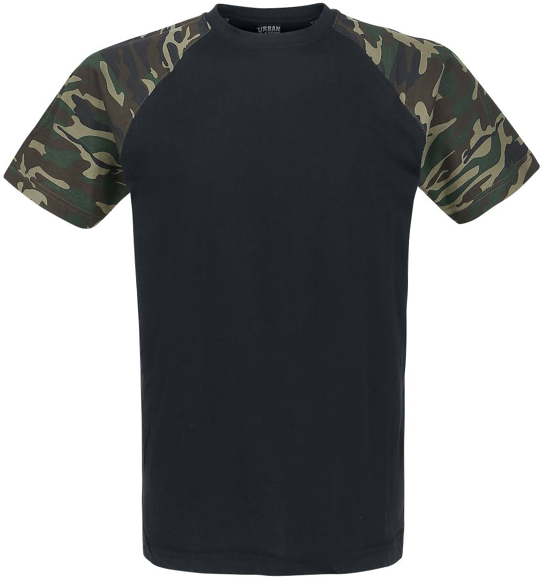 Raglan Urban Negro Camiseta Madera Contraste Classics Camo qvwtrvS
