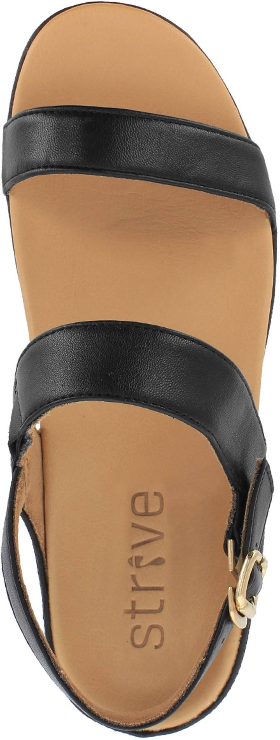 Strive Lucia Ladies All Black Leather Slingback sandals, 4 UK  7VY2qO