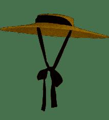 GEMVIE Women Casual Summer Straw Hat Large Brim Flat Top Boater Hat Braided Beach Sun Cap with Chin Strap