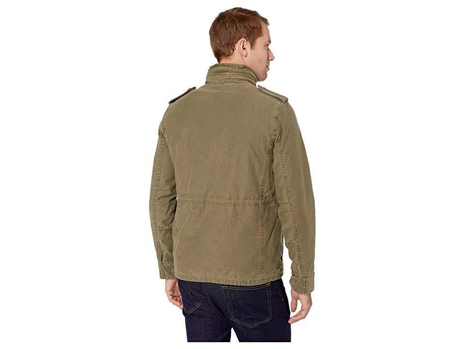 Chaqueta Brand Hombres Sherpa Oliva Abrigo Quemada Lucky Md Para Extraíble FfYFxwrtq