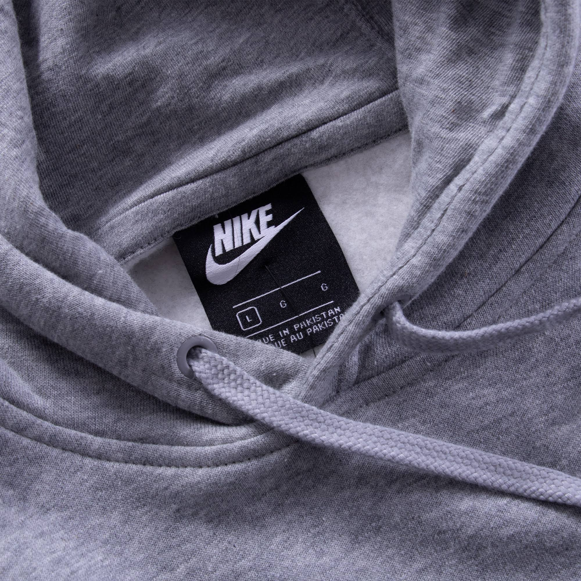 Foncé Gris Nike Blanc Club Sweat Chiné À Capuche wxXqUIPv