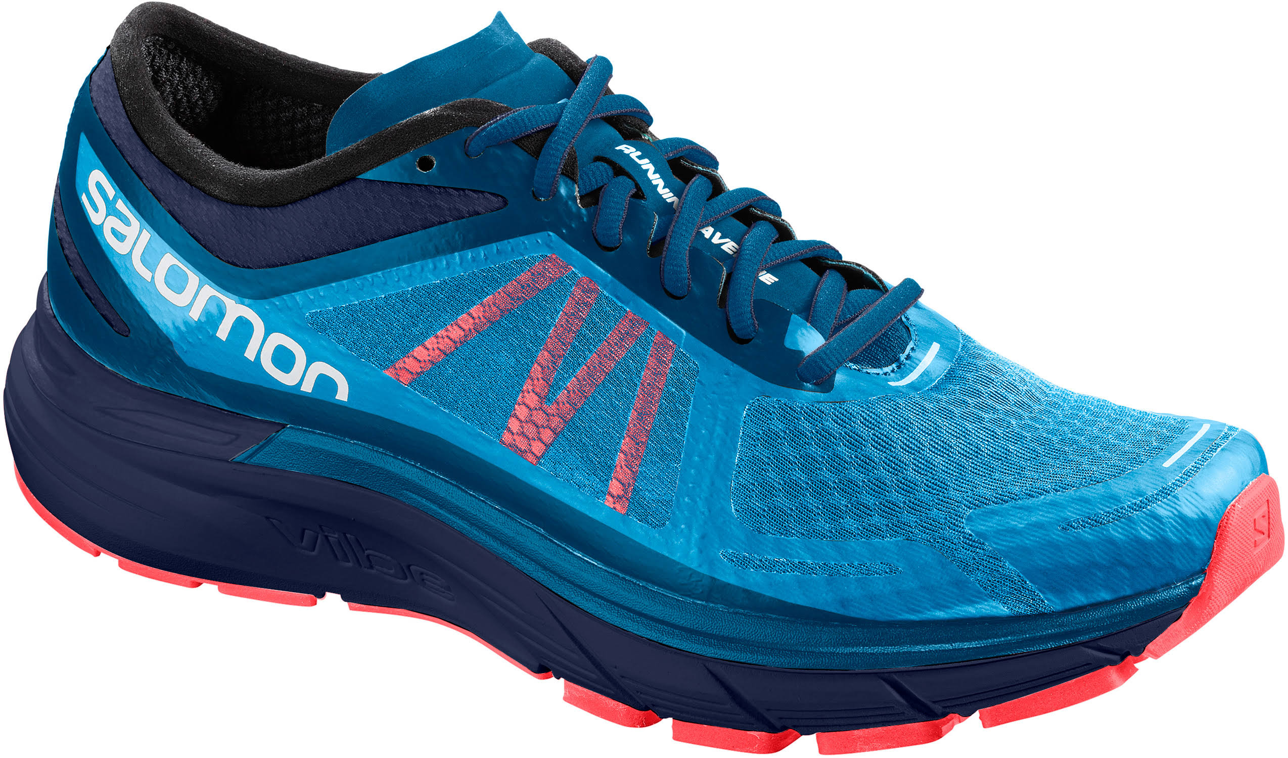Shoes Red Salomon Mens Max Ra Running Blue Sonic xrBI0BFqp