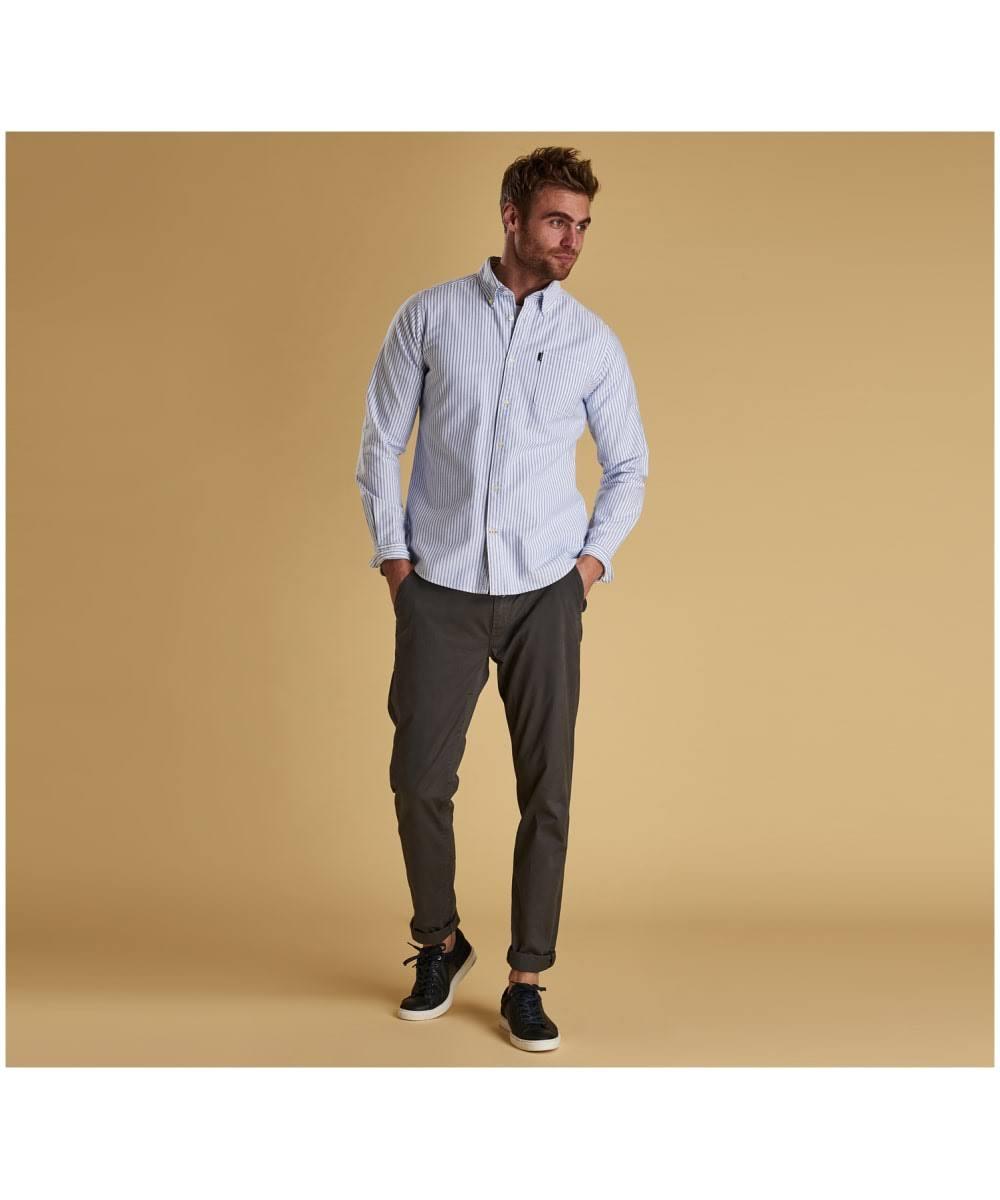 Oxford Camisa S Stripe Barbour Blanco L CqSdwwH8P