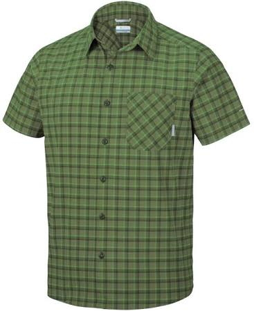 Canyon Xxl Plaid Verde Corta Camisa Manga Color Columbia Para Triple Hombre De Mosstone Talla RxavxX
