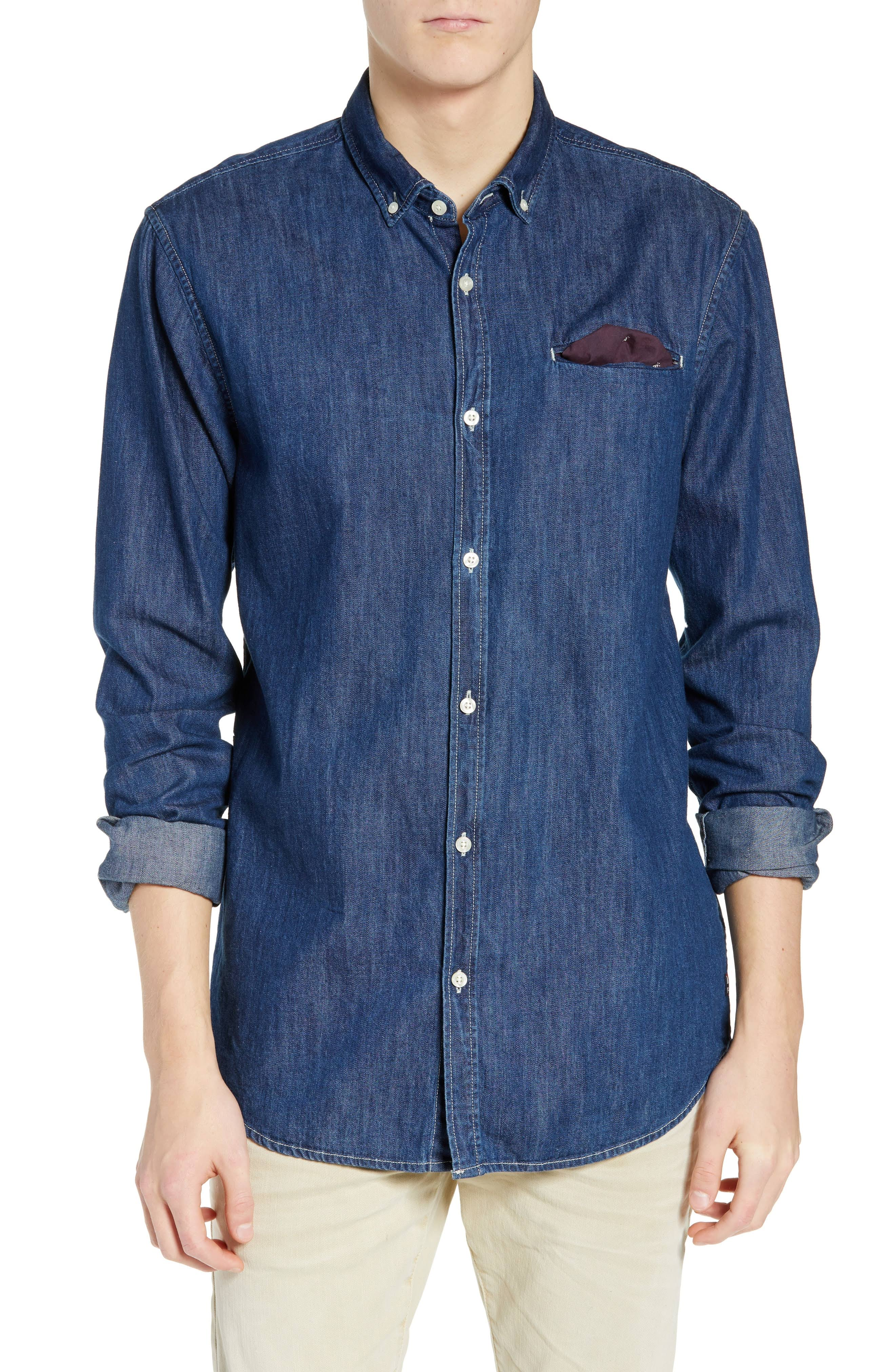 Soda Color Indigo Vaquera amp; L Camisa Tamaño Scotch 5qwfvUCp