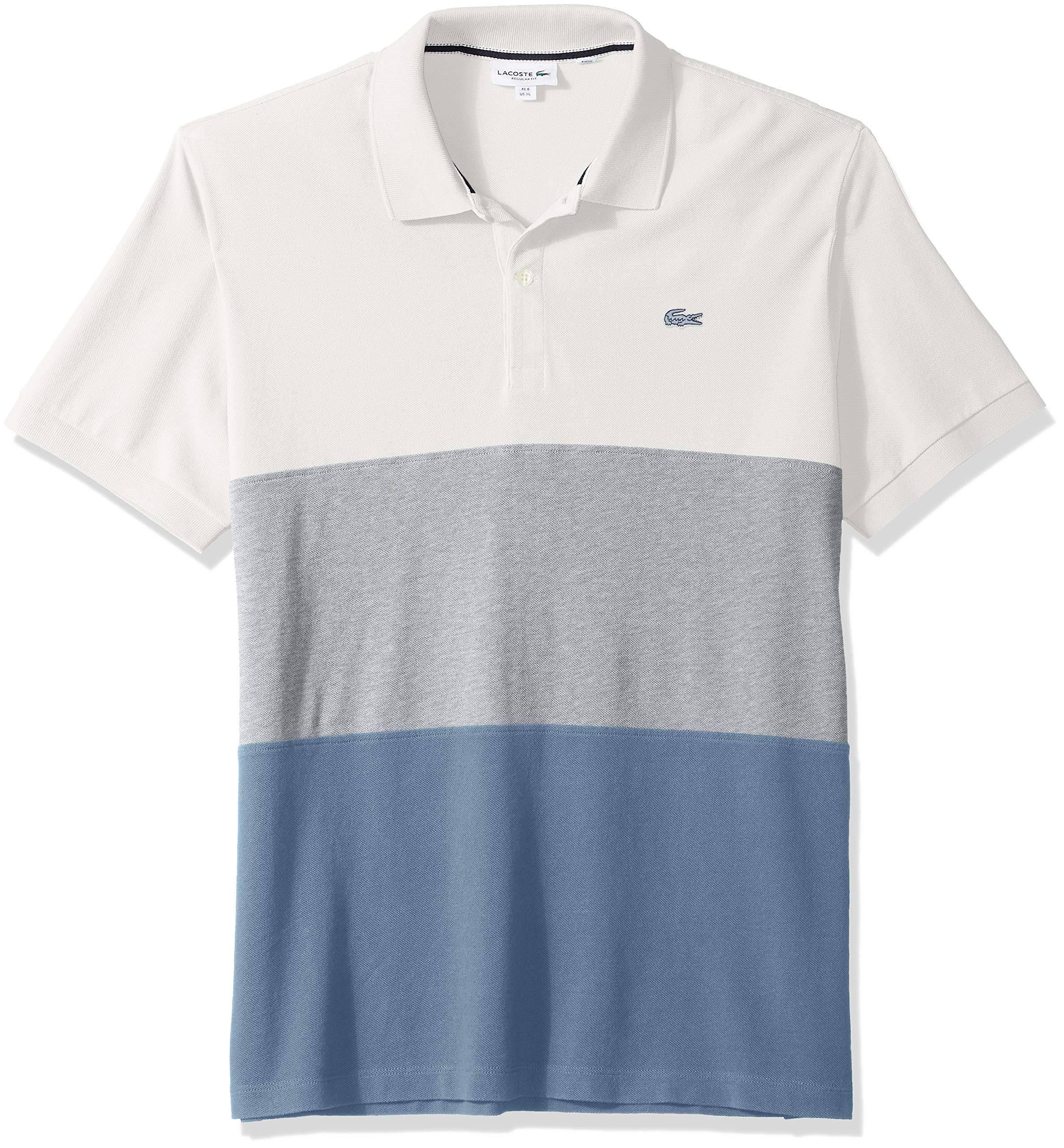 Blanco Petit Para Hombre Lotste Colorblock Fit Regular Piqué Polo Twp8q