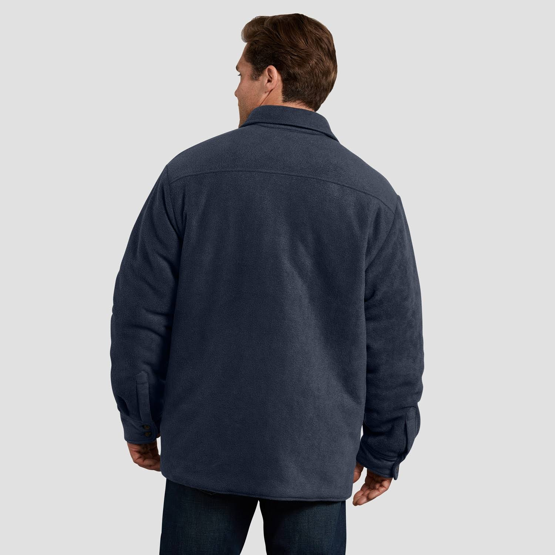 Hombre Acolchada Y Micro De Dickies Holgada Oscuro Para Icon Camisa Azul S Marino tj202 Fleece Chaqueta Talla zqSw4p1