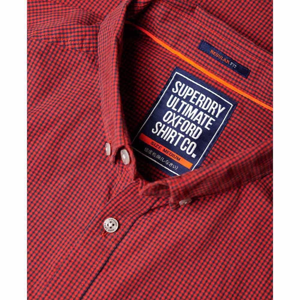 Oxford Hombres Rojo M Ultimate Superdry De Universidad Para Tamaño Camisa La HvnqwdZZ