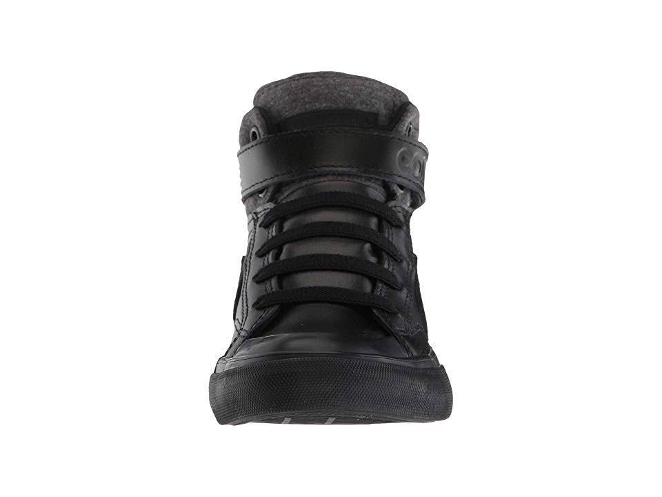 High Pro Blaze Sneaker Schwarz Wildleder Strap Leder Top Converse Kids F1qfxwZ