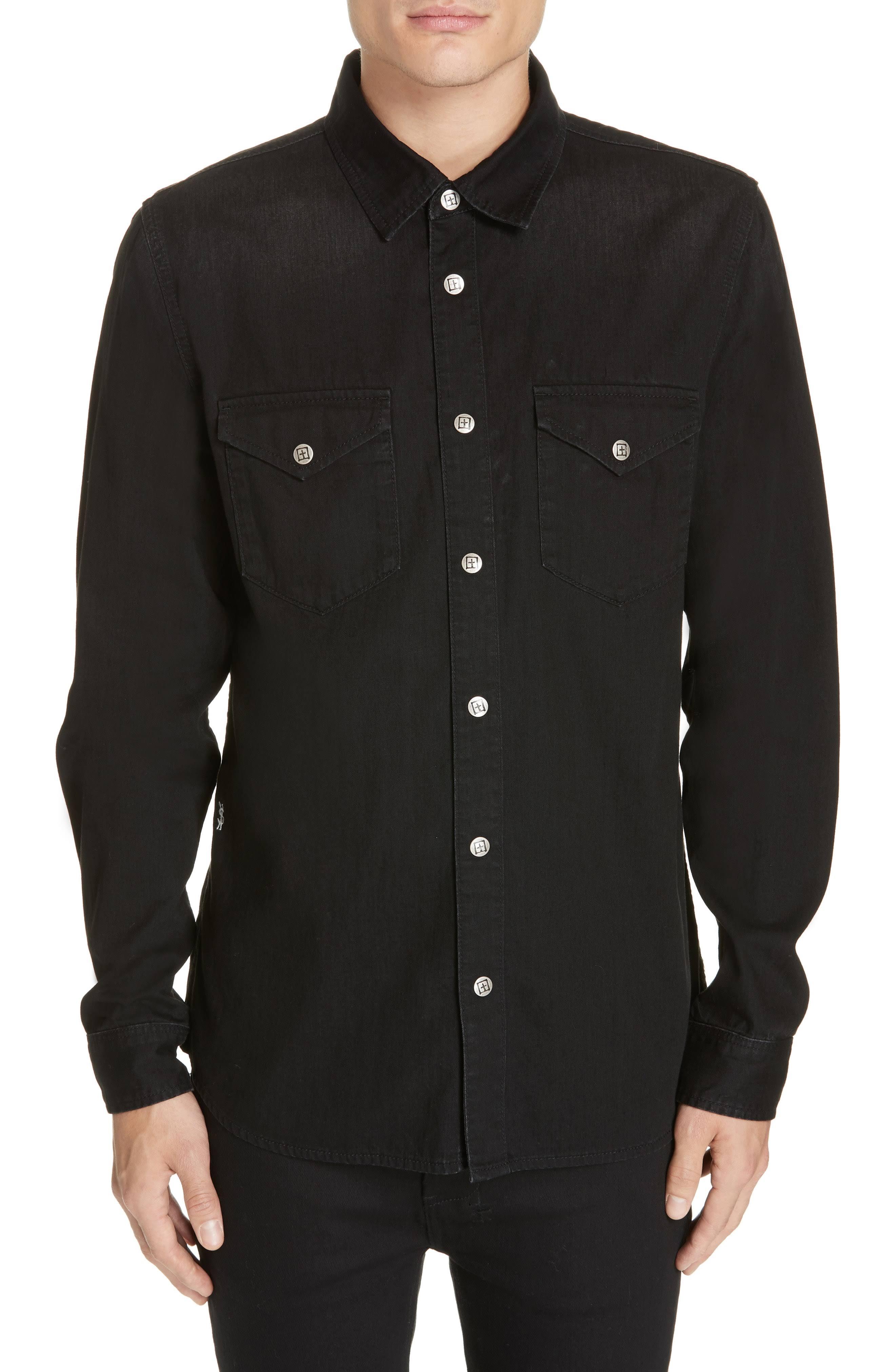 Ksubi Negro Ksubi Nimes Nimes Camisa Camisa Negro qwAZTpa