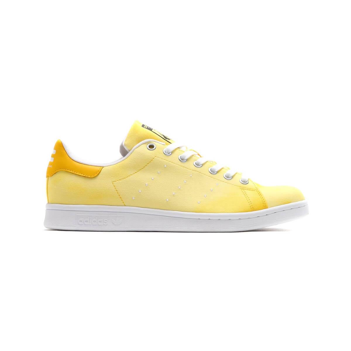 Adidas Men's Shoes Pharrell Williams Hu Holi Stan Smith Yellow White size 4